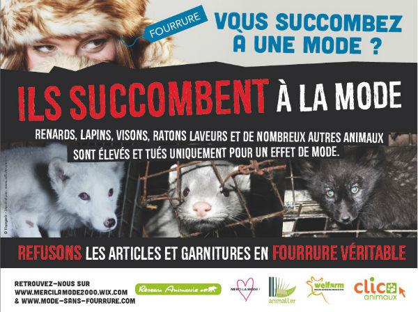 campagne anti-fourrure, association Animavie, Clic Animaux