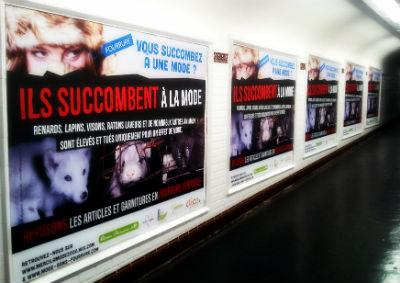 porte d'orléans, Campagne anti Fourrure, Clic Animaux